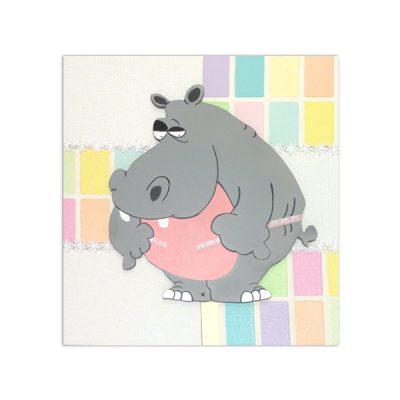 wandbord nijlpaard