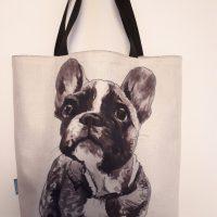 tas - shopper 'Franse Bulldog '