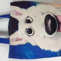 shopper/ tas 'cartoon hond '